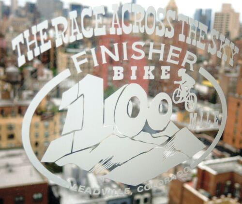 Leadville Colorado 100 mile BIKE Race Finisher Decal The Race Across the Sky