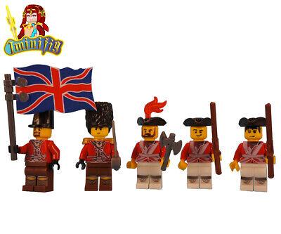 Custom Print LEGO Minifigure x 5 Assassin/'s Creed British Captain Soldier Flag