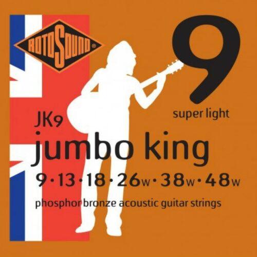 Rotosound JUMBO KING JK9 JK10 JK11 JK12 Phosphor Bronze Acoustic Guitar Strings