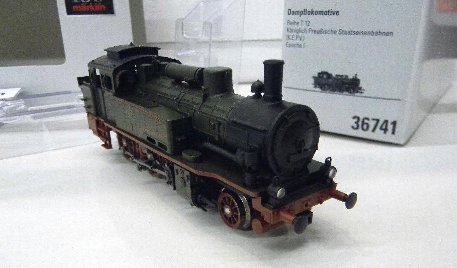 36741 Märklin Dampflok T12 KPEV Epoche I - H0 HO 1 87 Eisenbahn modeltrain loco  | Hohe Qualität