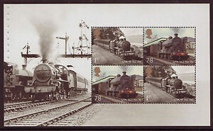 GREAT-BRITAIN-2014-CLASSIC-LOCOMOTIVES-PANE-4-UNMOUNTED-MINT
