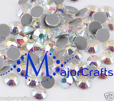 350pcs Blue Crystal AB 4mm ss16 Glass Flat Back DMC Hotfix Iron-on Rhinestones