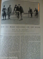 Road Racing Bike Bicycle Cycling Olley Edwardian Old Antique Photo Article 1905