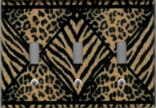 LEOPARD AND TIGER ANIMAL IMAGE HOME DECOR LIGHT SWITCH PLATES AND OUTLETS