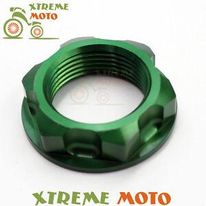 CNC-Billet-Green-Steering-Stem-Nut-Bolt-For-Kawasaki-KX125-250-250F-450F-KLX450R