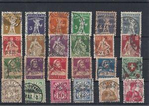 Schweiz - Konvolut Freimarken meist vor 1920 (o) ; *134* - Arnstedt, Deutschland - Schweiz - Konvolut Freimarken meist vor 1920 (o) ; *134* - Arnstedt, Deutschland