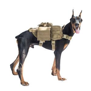 7e4b6cb20fe Image is loading OneTigris-Tactical-Dog-Molle-Vest-Harness-Training-Dog-