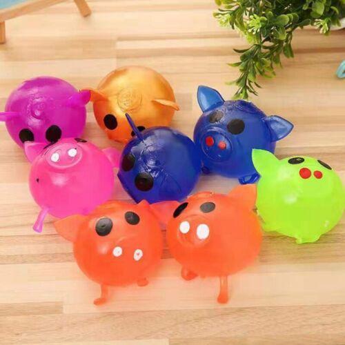 Solid Piggy Anti Stress Splat Water Ball Decompression Squeeze Soft Toy Fun 1pc