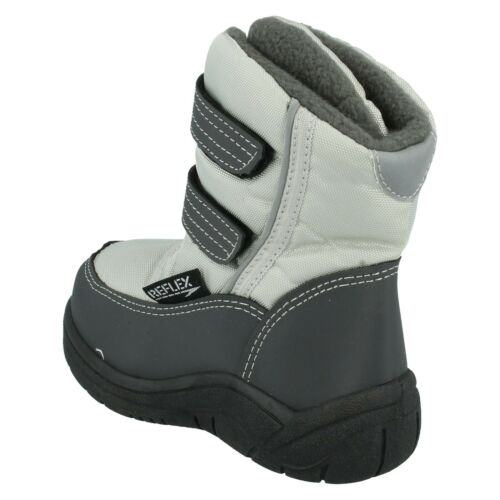 BOYS REFLEX N2012 INFANT HOOK /& LOOP WARM FAUX FUR CASUAL WINTER SNOW BOOTS SIZE