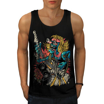 Wellcoda Graffiti Design Mens Tank Top Street Active Sports Shirt