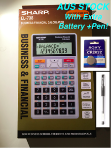 genuine sharp financial calculator el 738 1 year warranty 1 sony rh ebay com