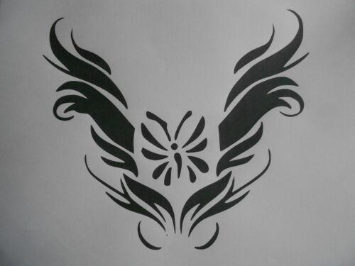 Schablone Tattooschmetterling auf A4