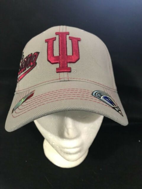 199948e4acc INDIANA HOOSIERS TOP OF THE WORLD NCAA GRAY FLEXFIT HAT FLEX FIT CAP ONE  SIZE