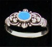 Sterling Silver Turquoise Bezel Ring