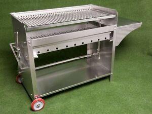 deluxe edelstahlgrill xxl holzkohle edelstahl grill kohle grillwagen ebay. Black Bedroom Furniture Sets. Home Design Ideas