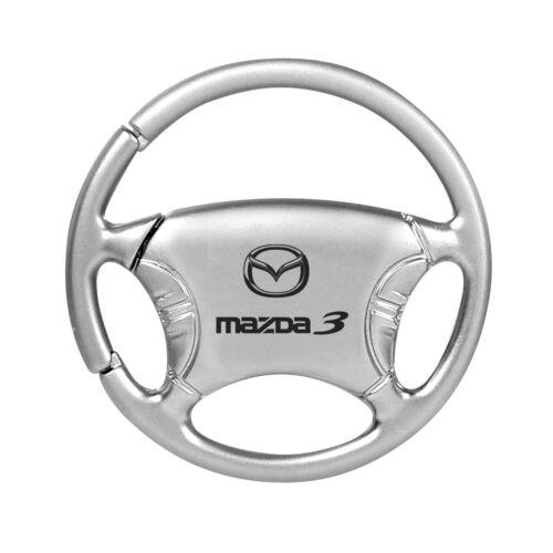 Mazda 3 Steering Silver Wheel Key Chain
