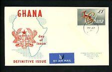 Postal History Ghana FDC #97 Animal Gazelle Definitive Issue 1961