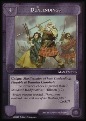 MECCG CCG Middle-earth Dunlendings The Lidless Eye LE MINT