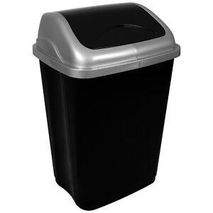 Details zu 50 L Mülleimer Klappdeckel Abfalleimer Müllsammler Papierkorb Bad Küche Müll NEU