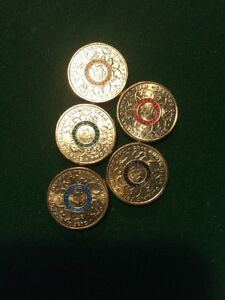 2016-2-Aust-Olympic-Team-Coin-Set-Of-5-Coins