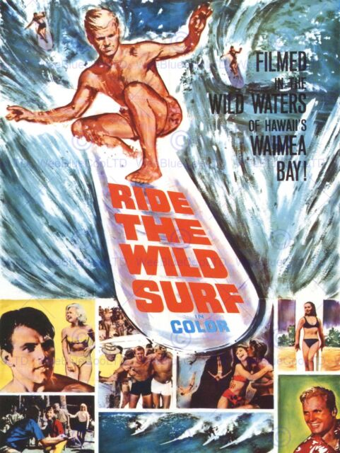 FILM MOVIE RIDE WILD SURF HAWAII WAIMEA BAY 30X40 FINE ART PRINT POSTER BB7897