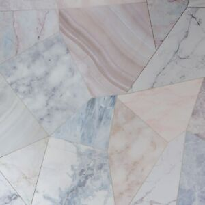 Details About Pink Lilac Blue Grey Gold Geometric Marble Effect Wallpaper Kitchen Bathroom