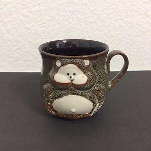 Japanese-Stoneware-Pottery-Drinking-Drunk-Monkey-Sake-3D-Coffee-Mug-Tea-Cup