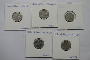 ISLE-OF-MAN-5-COINS-LOT-5-PENCE-A99-BX10-36