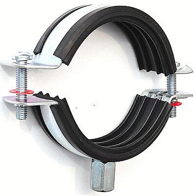 10 Stück Schelle 102-116 Mm Ø Verz. Rohrschelle Schallschutz Ohne Versandkosten Jade Weiß