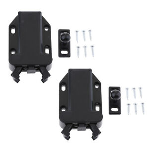 Marine Hardware Automobiles & Motorcycles Loft Catch Hatch Push Attic Cupboard Latch Press Lock Cabinet Panel Black