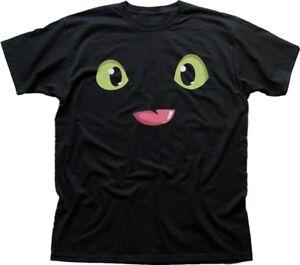 Httyd-come-formare-il-tuo-drago-nero-stampato-T-shirt-di-Cotone-fn9678