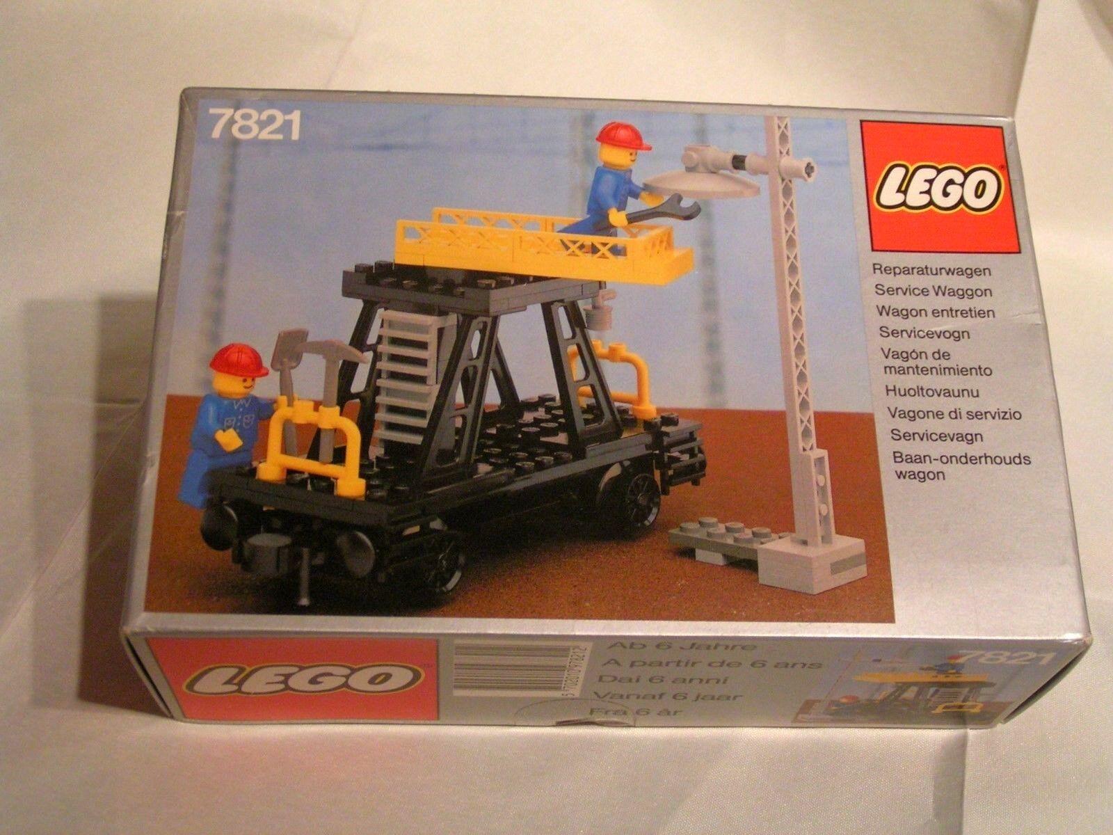 LEGO TRAIN   -   WAGON  DE MAINTENANCE COMPLET EN BOÏTE  (réf. 7821)  -  RARE