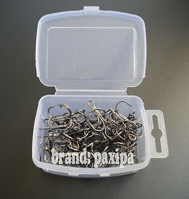 Lot 50 Fishing Treble Hook With Box For Minnow Popper Crank Soft Bait