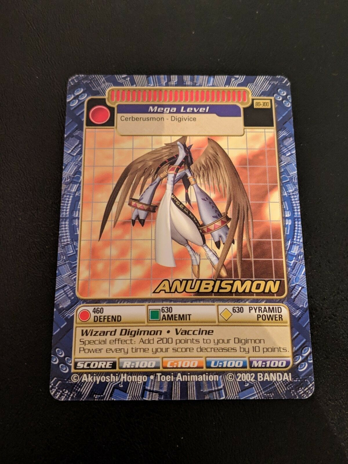 Rare Digimon Digi-Battle Card Game Booster Booster Booster Series 6 Anubismon BO-300 NM 66f212