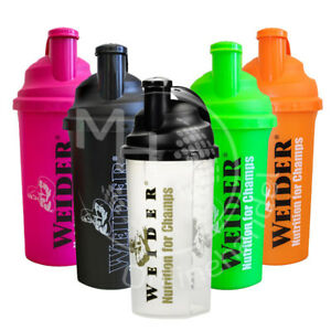 Weider-Classic-Shaker-2x-700ml-Praktischer-Shaker-in-5-Farben-fuer-Eiweiss-Shakes