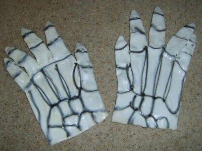 Grande Gomma Bianco Tristo Mietitore Scheletro Mani Guanti Halloween Fancy Dress-mostra Il Titolo Originale