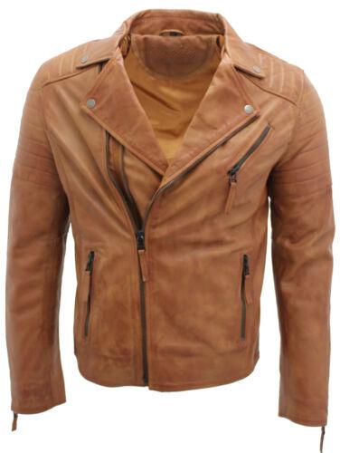100 en motard Fit Homme Slim Brando Veste cuir cuir Double Zip Cross Bt5qwAfa