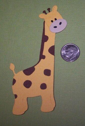Scrapbook /& Card Making 2 Giraffe Premade PAPER Die Cuts
