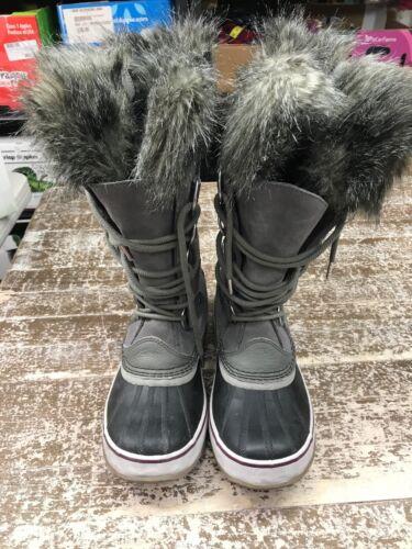 Sorel Women/'s Joan of Arctic Winter Boots Black Stone Quarry