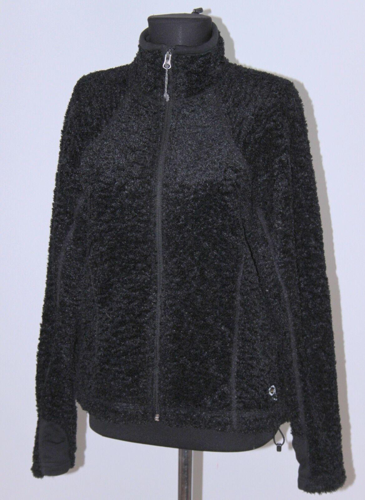 Mountain Hardwear womens active wear black full zip jacket Size M
