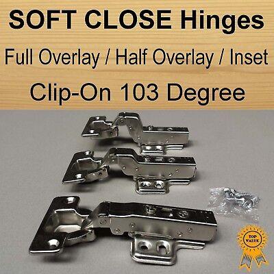 Stainless Steel 100 x Door Kitchen Cabinet Soft Close Half Overlay Hinges