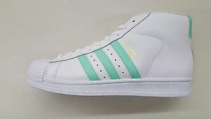 ad235e411aaf5 ... ADIDAS ORIGINALS PRO MODEL WHITE EASTER GREEN GOLD MENS SIZE SNEAKERS  BY3728