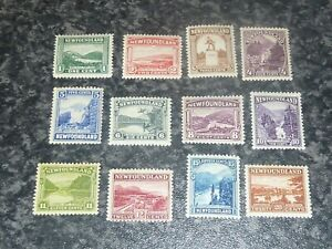 NEWFOUNDLAND-POSTAGE-STAMPS-SG149-155-157-161-LIGHTLY-MOUNTED-MINT