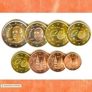 Kursmünzensatz Spanien 2011 1c 2 Euromünzekms Alle 8 Münzen Satz