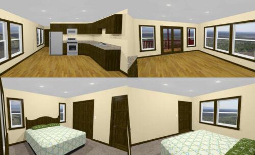 Building Plans & Blueprints Model 2A PDF Floor Plan 36x42 ...