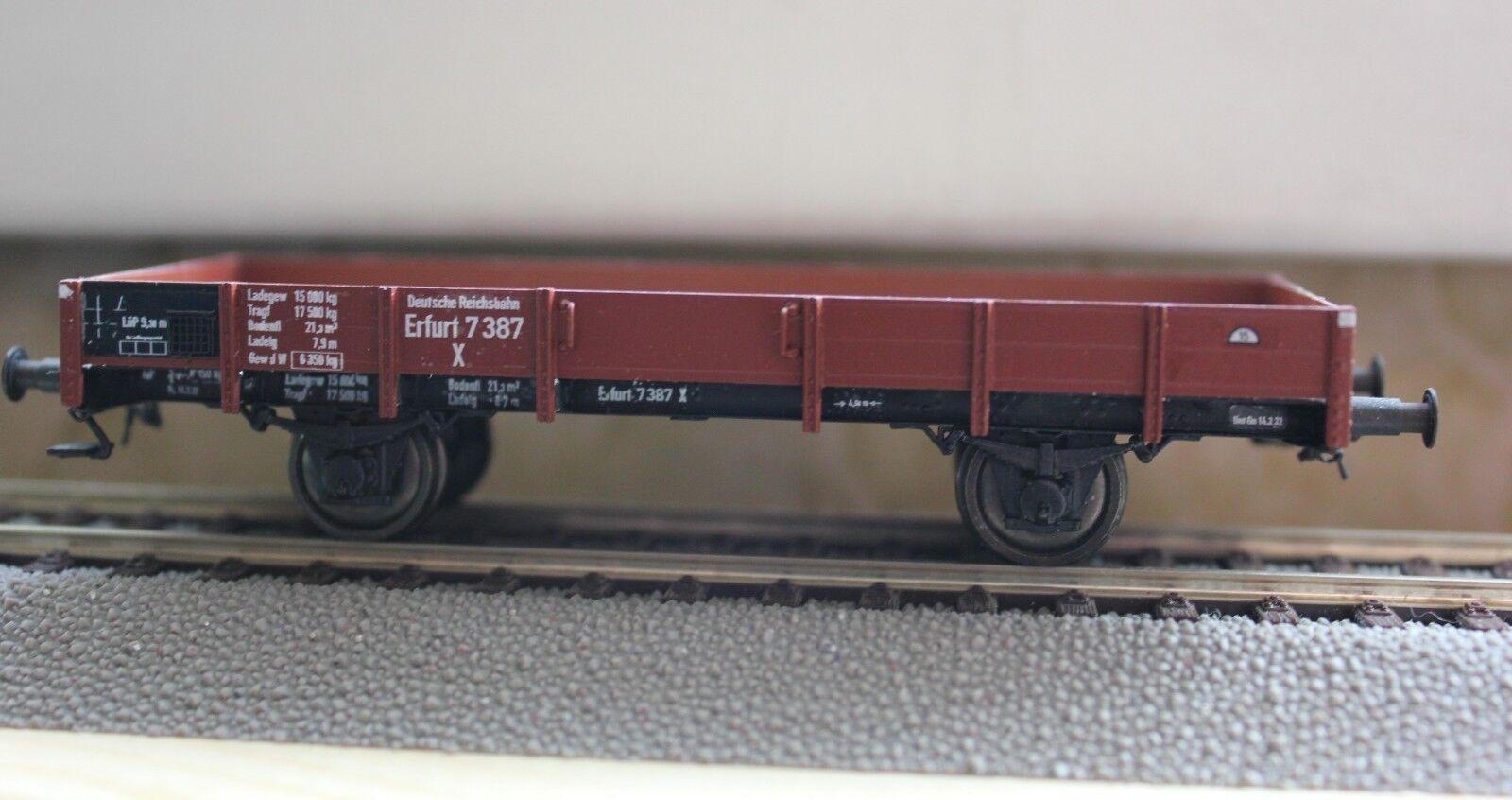Modelo terminado vagones abiertos de tipo aprobado X Erfurt