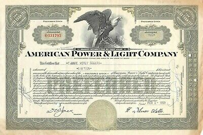 North American Aviation 100 Shares Capital Stock Certificate 1940-50/'s Inc