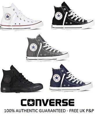 Disciplinato Nuovo Converse All Star Ct Hi Top Scarpe Da Ginnastica In Tela Bianco Nero Grigio Taglia Uk 3 4 5 6-mostra Il Titolo Originale