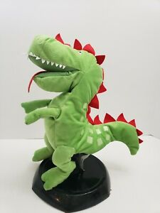 IKEA-Green-Dinosaur-Laskig-Hand-Puppet-Plush-Stuffed-Dragon-Red-14-034-Full-Body