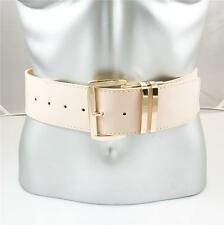 "WOMENS XL PLUS SIZE GOLD BUCKLE WIDE PATENT LEATHER 2"" FASHION BELT BLUSH PINK"